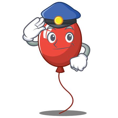 Police balloon character cartoon style vector illustration Illustration