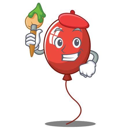 Artist balloon character cartoon style