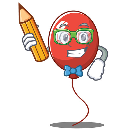 Student balloon character cartoon style vector illustration