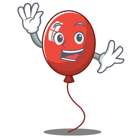 Waving balloon character cartoon style