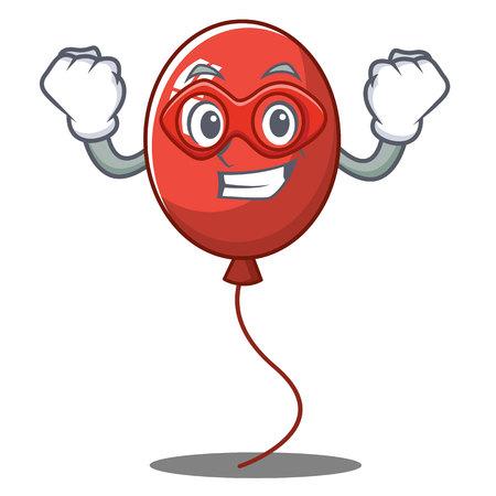 Super hero balloon character cartoon style vector illustration