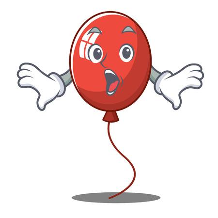 Surprised balloon character cartoon style vector illustration