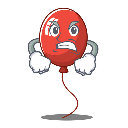 Angry balloon character cartoon style vector illustration Illusztráció