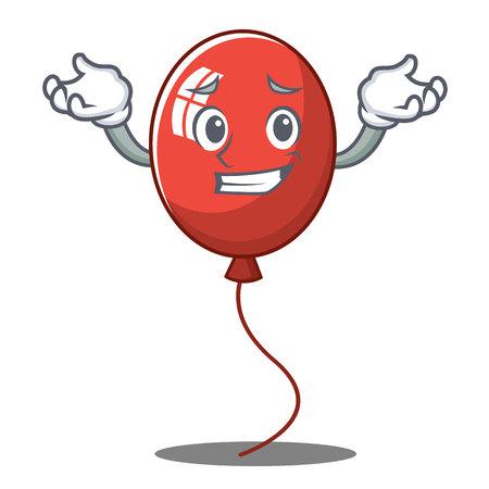 Grinning balloon character cartoon style vector illustration
