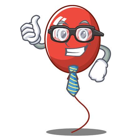 Businessman balloon character cartoon style vector illustration