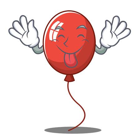 Tongue out balloon character cartoon style vector illustration
