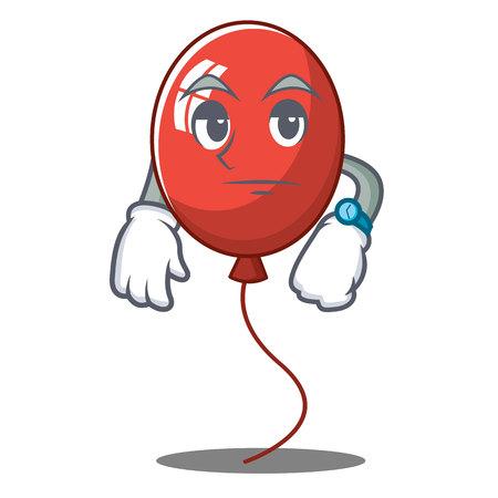 Waiting balloon character cartoon style vector illustration
