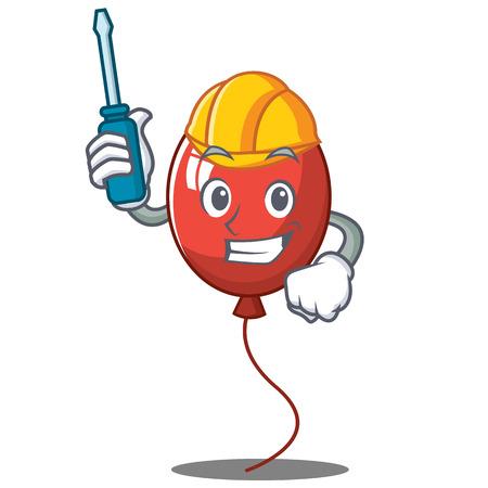 Repairman balloon character cartoon style