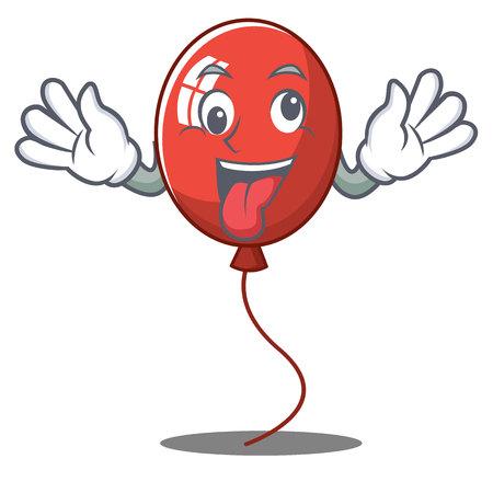 Crazy balloon character cartoon style