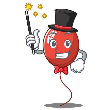 Magician balloon character cartoon style