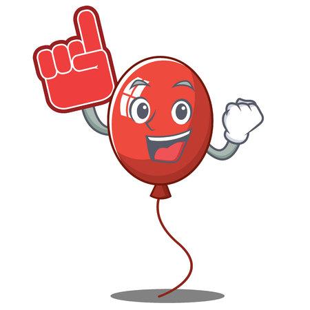 Foam finger balloon character cartoon style