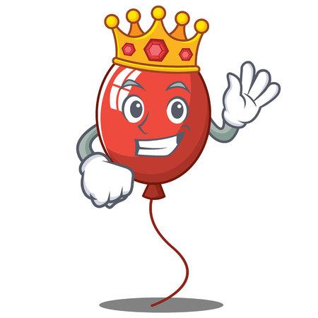 King balloon character cartoon style