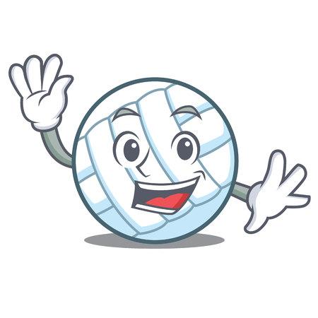 Winken Volleyball Charakter Cartoon
