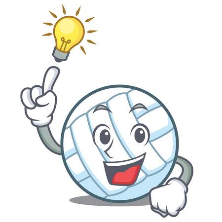 Have an idea volley ball character cartoon Illustration