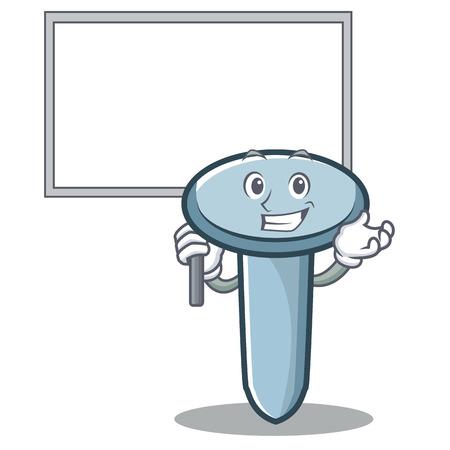 Bring board nail character cartoon style vector illustration