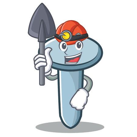 Miner nail character cartoon style Illustration