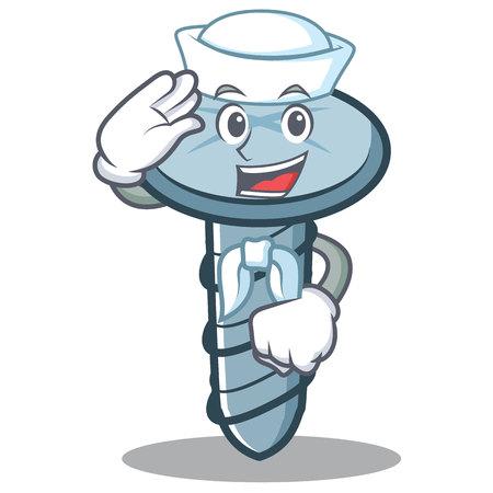 Sailor screw character cartoon style