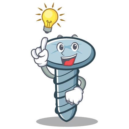 Have an idea screw character cartoon style