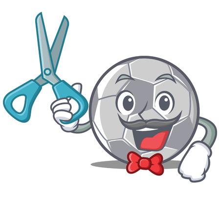 Barber football character cartoon style vector illustration Vektorové ilustrace
