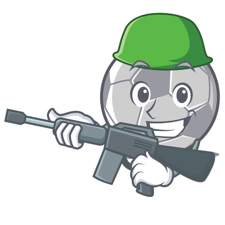 Army football character cartoon style vector illustration