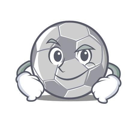 Smirking football character cartoon style.