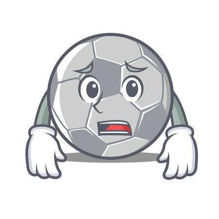 Afraid football character