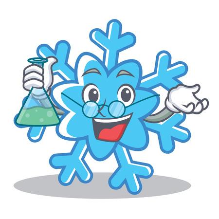 Professor snowflake character cartoon style
