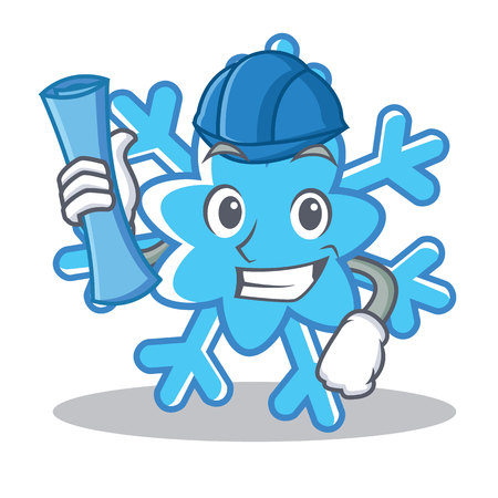 Architect snowflake character cartoon style