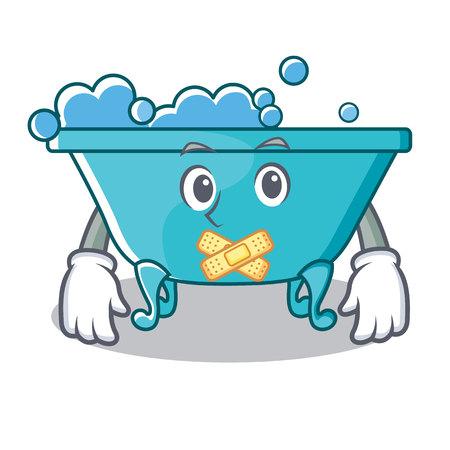 Silent bathtub character cartoon style