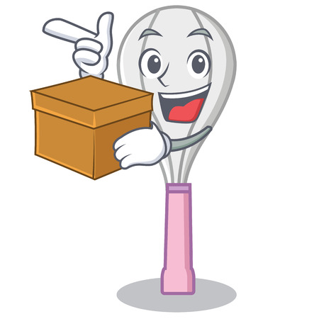 With box whisk character cartoon style