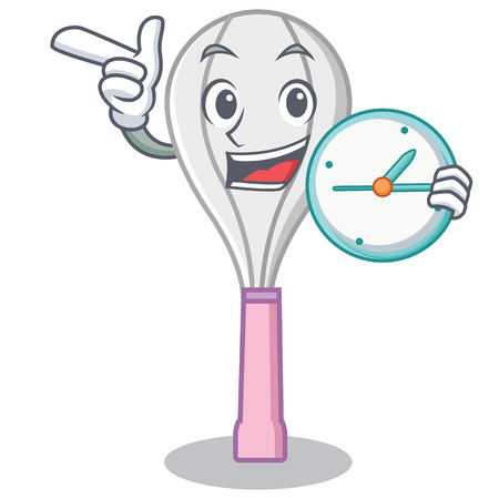 With clock whisk character cartoon style