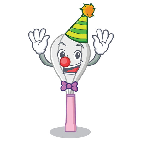 Clown whisk character cartoon style.