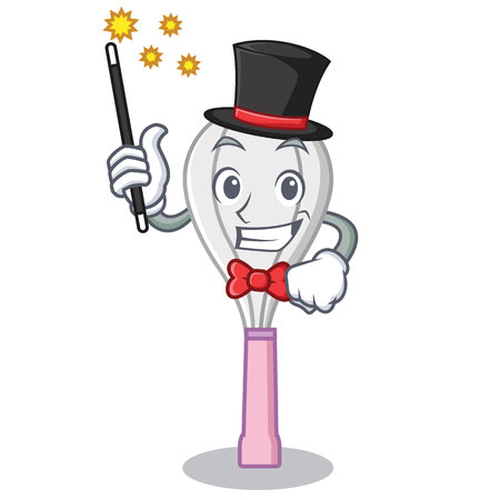 Magician whisk character cartoon style. Illustration