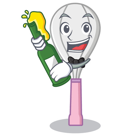 With beer whisk character cartoon style.