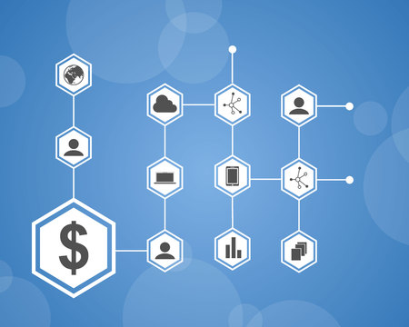 Background style block chain collection vector illustration