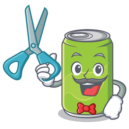Barber soft drink character cartoon