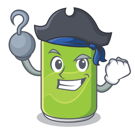 Pirate soft drink character cartoon Illustration