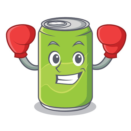 Boxing soft drink character cartoon