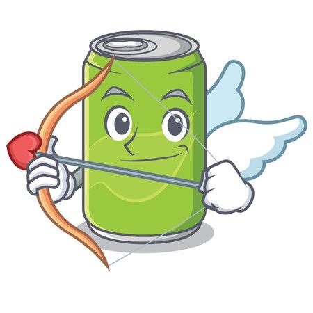 Cupid soft drink character cartoon vector illustration