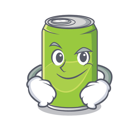 Smirking soft drink character cartoon vector illustration