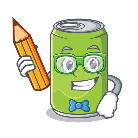 Student soft drink cartoon character Иллюстрация