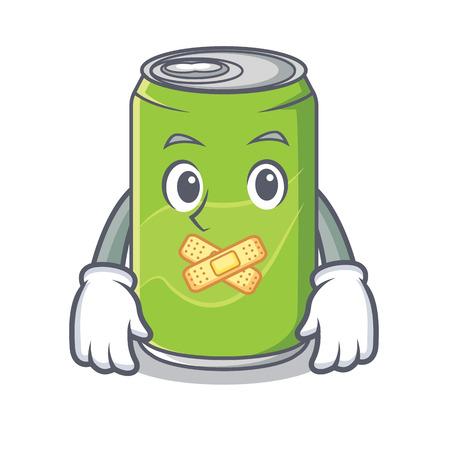 Silent soft drink character cartoon