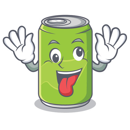 Crazy soft drink character cartoon