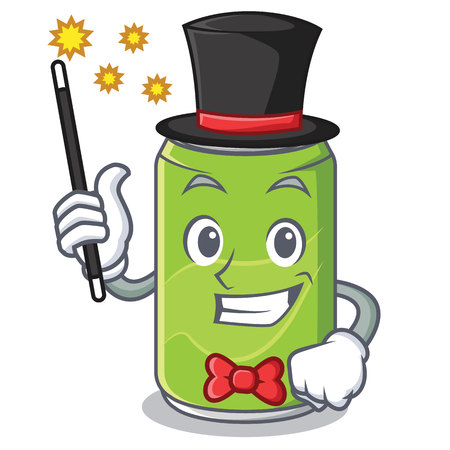 Magician soft drink character cartoon