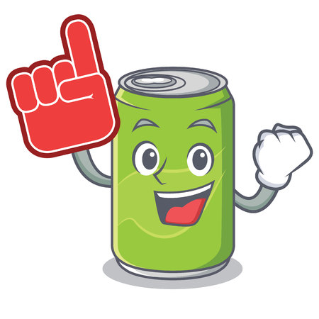 Foam finger soft drink character cartoon