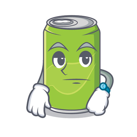 Waiting soft drink character cartoon Stock Photo