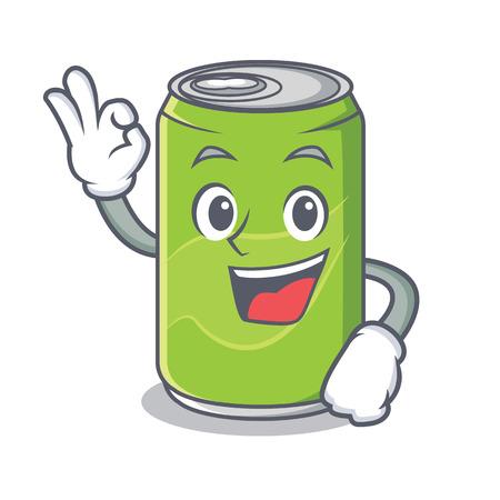 Okay soft drink character cartoon Foto de archivo