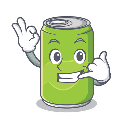 Call me soft drink character cartoon
