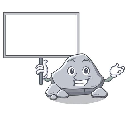 Bring board stone character cartoon style Illustration