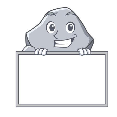 Sorridendo con stile cartoon cartone animato di pietra